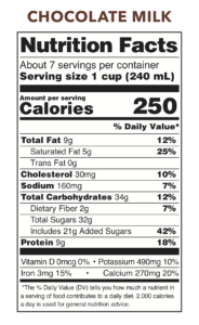 Hart Dairy Chocolate Milk Nutritional Facts